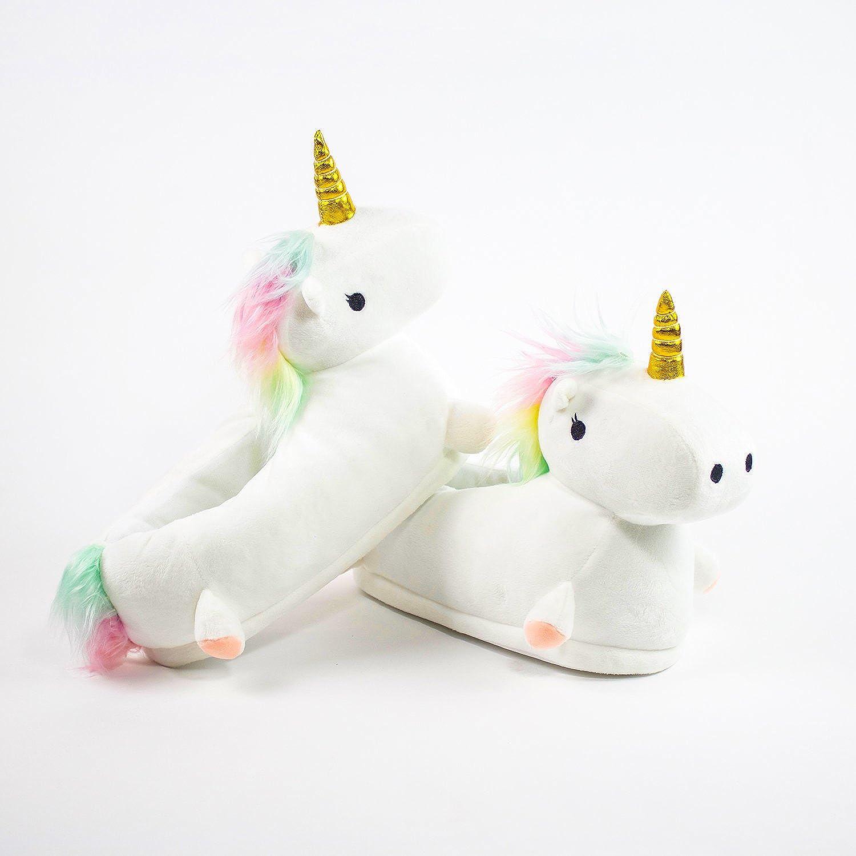 d7a52f616c1 Light Up Unicorn Slippers  Amazon.co.uk  Shoes   Bags