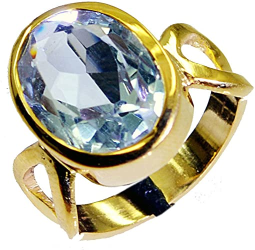 Alexandrite Gold Plated Ring For Women Gift Oval Shape Astrological Birthstone Size 5,6,7,8,9,10,11,12