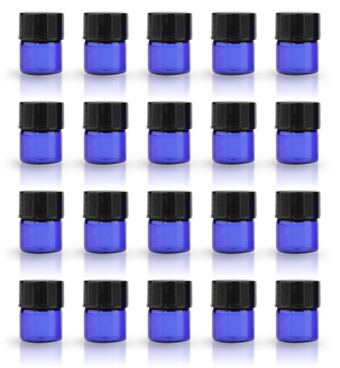 人気商品の ZbFwmx 1 Blue-100-Pack/4ドラムアンバー コバルトブルー ミニガラスボトル 小瓶 小瓶 サンプルバイアルオリフィス減少 ブラックキャップ Blue-100-Pack B077L4WMH6 Blue-100-Pack Blue-100-Pack, クセチョウ:a5e965ce --- egreensolutions.ca