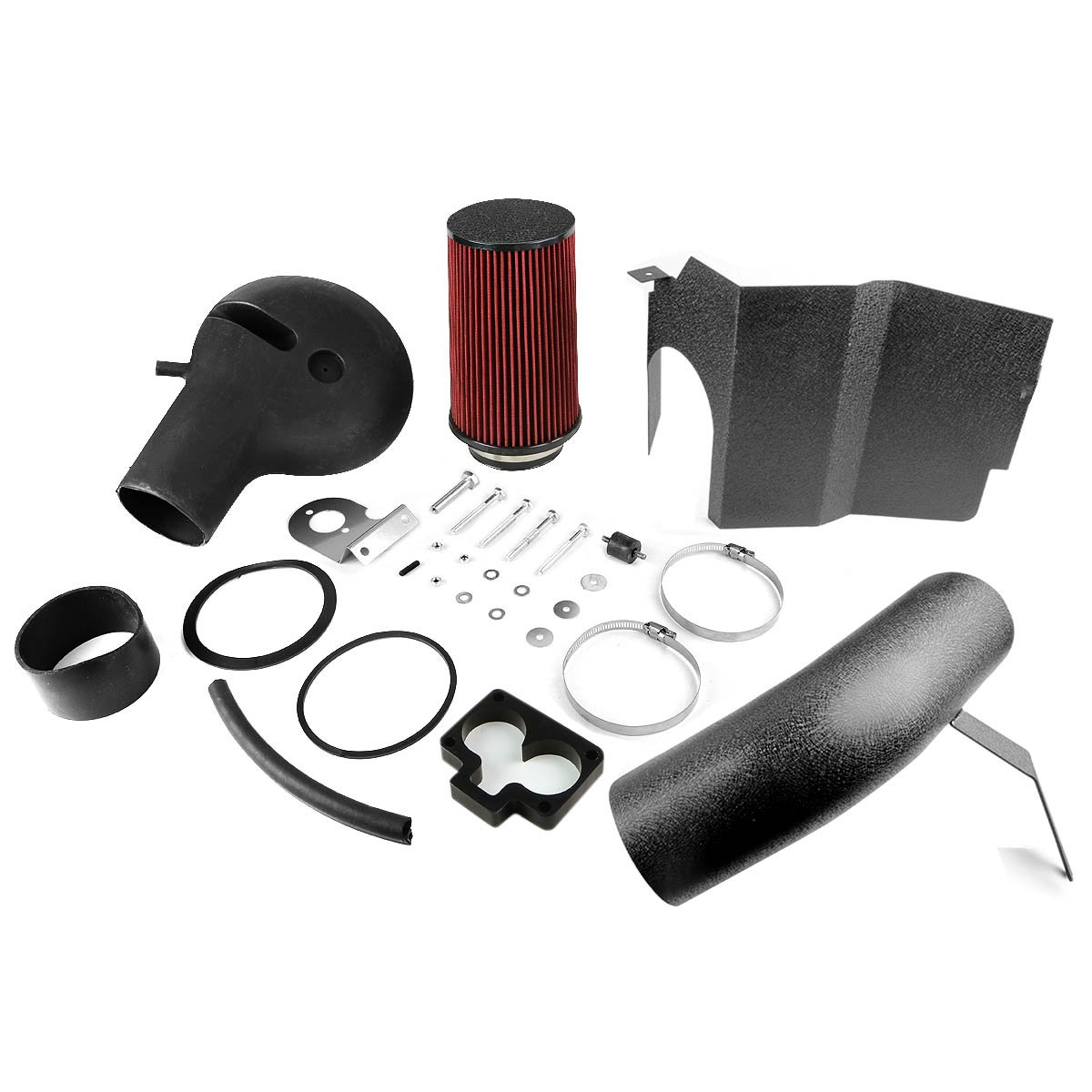 For 97-99 Dodge Dakota Durango V8 DNA Motoring AIP-2-HS-DAKOTA97V8-BKBK Cold Air Intake System w//Heat Shield