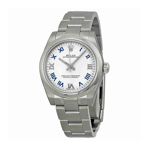 Rolex Oyster Perpetual Blanco Dial Acero inoxidable Acero Damas Reloj 177200 wblro: Amazon.es: Relojes