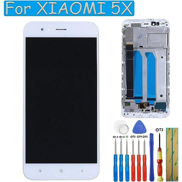 E-yiiviil S LCD Pantalla de Recambio Compatible con Xiaomi Mi 5 x/MI A1 mia1 Pantalla táctil digitalizador Assembly Cristal Blanco + Marco: Amazon.es: Electrónica