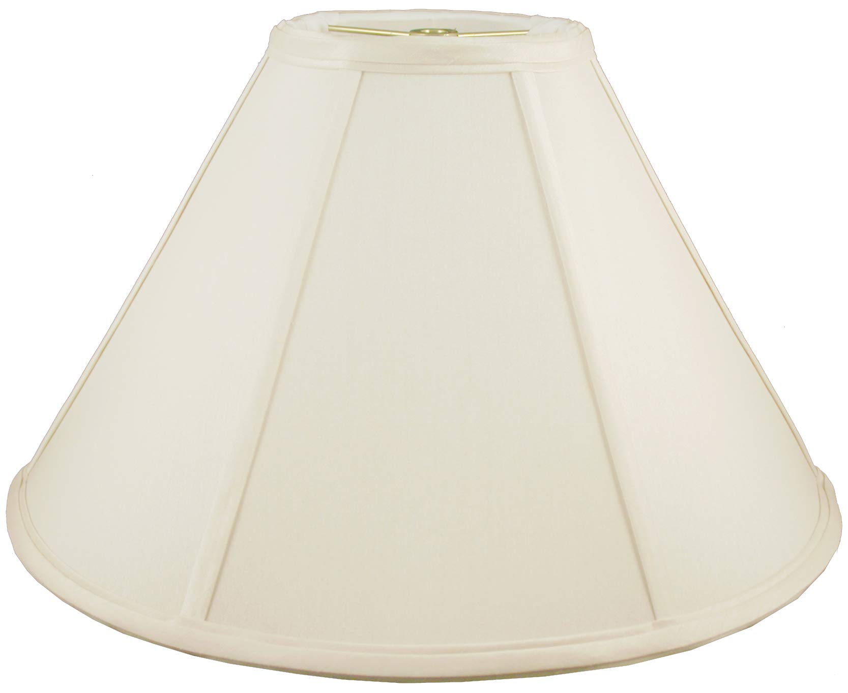 American Pride 6''x 20''x 12'' Round Soft Shantung Tailored Lampshade, Eggshell