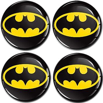 Skinoeu 4 X 60mm Aufkleber 3d Gel Silikon Autoaufkleber Stickers Batman Felgenaufkleber Für Radkappen Nabenkappen Radnabendeckel Rad Aufkleber Nabendeckel Auto Tuning A 460 Auto