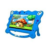 Ainol 7C08- tablet para niños de 7 pulgadas ,Tablet infantil de Android 7.1 RK3126C,regalo para niños, 1GB+8GB con wifi ,doble cámara,tablet de Bob Esponja, juegos educativos)Azul