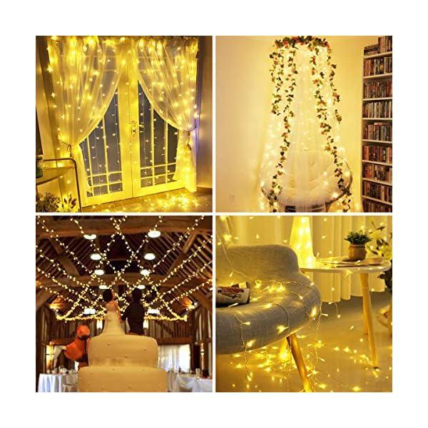 BACKTURE Catena Luminosa Natale, 25M 200 LED Stringa Luci con Adattatore di Alimentazione, 8 Modalità e Luminosità Impermeabile IP44, Decorative per Interno o Esterno Casa Festa Matrimonio 7 spesavip