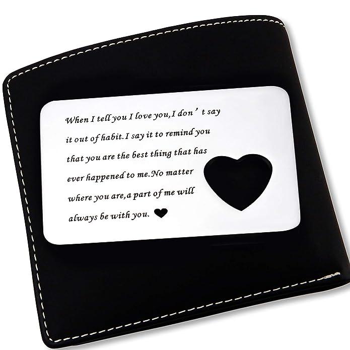 Amazon.com: OFGOT7 para hombres de la hija, billetera con ...