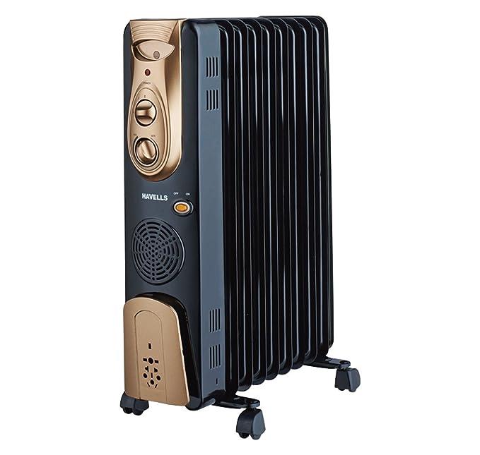 Havells OFR - 9Fin 2500-Watt PTC Fan Heater (Black)