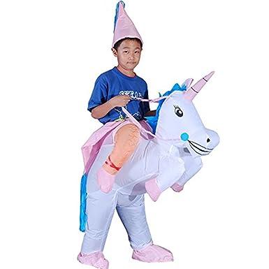 Amazon.com: Niños inflable dinosaurio Funny Unicorn disfraz ...