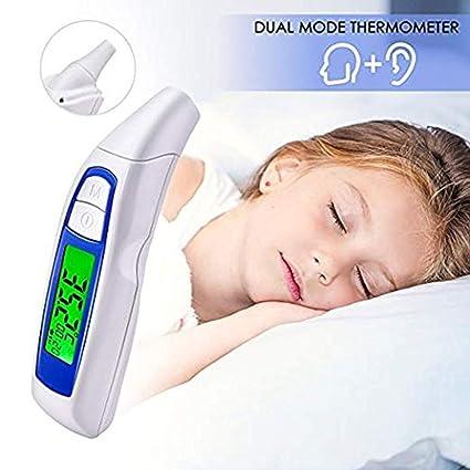 Lomire Termómetro Digital Frente y Oído, Termómetro Infrarrojo Médico Apto Para Bebés y Adultos con