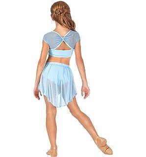 iiniim Maillot Vestido de Danza Ballet Elástico Niña Tutú Princesa ...