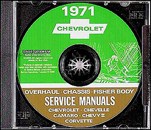 Chevrolet Malibu Differential - THE ABSOLUTE BEST 1971 CHEVROLET FACTORY REPAIR SHOP & SERVICE MANUAL CD INCLUDES: Biscayne, Bel Air, Impala, Caprice, Monte Carlo, Chevelle, Malibu, El Camino, Concours, Wagons, Nova, Camaro, and Corvette Stingray. CHEVY 71