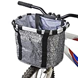 docooler Bicycle Bike Detachable Cycle Front Canvas Basket Carrier Bag Pet Carrier Aluminum