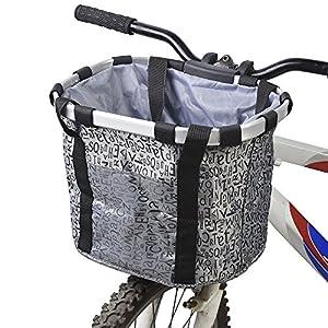 docooler Cestino Anteriore Bici Staccabile Animale Domestico Vettore Lega di Alluminio 16 spesavip
