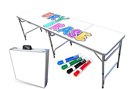 Amazon.com: Mesa plegable portátil con superficie de borrado ...