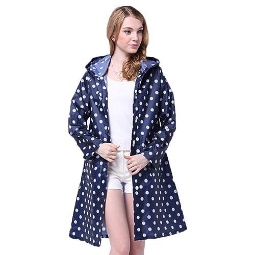 Luojida - Abrigo impermeable - capa - para mujer