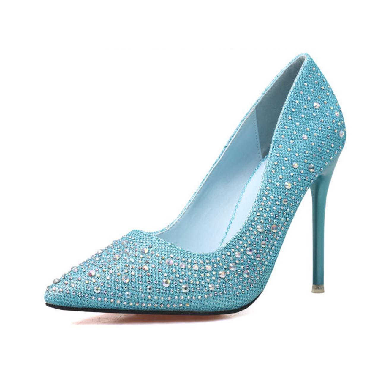 QPGGP-schuhe süß elegant schön bei fuß hochhackigen flachen Mund dünn sagte Farbe läuft Wasser Bohren einzigen Schuh
