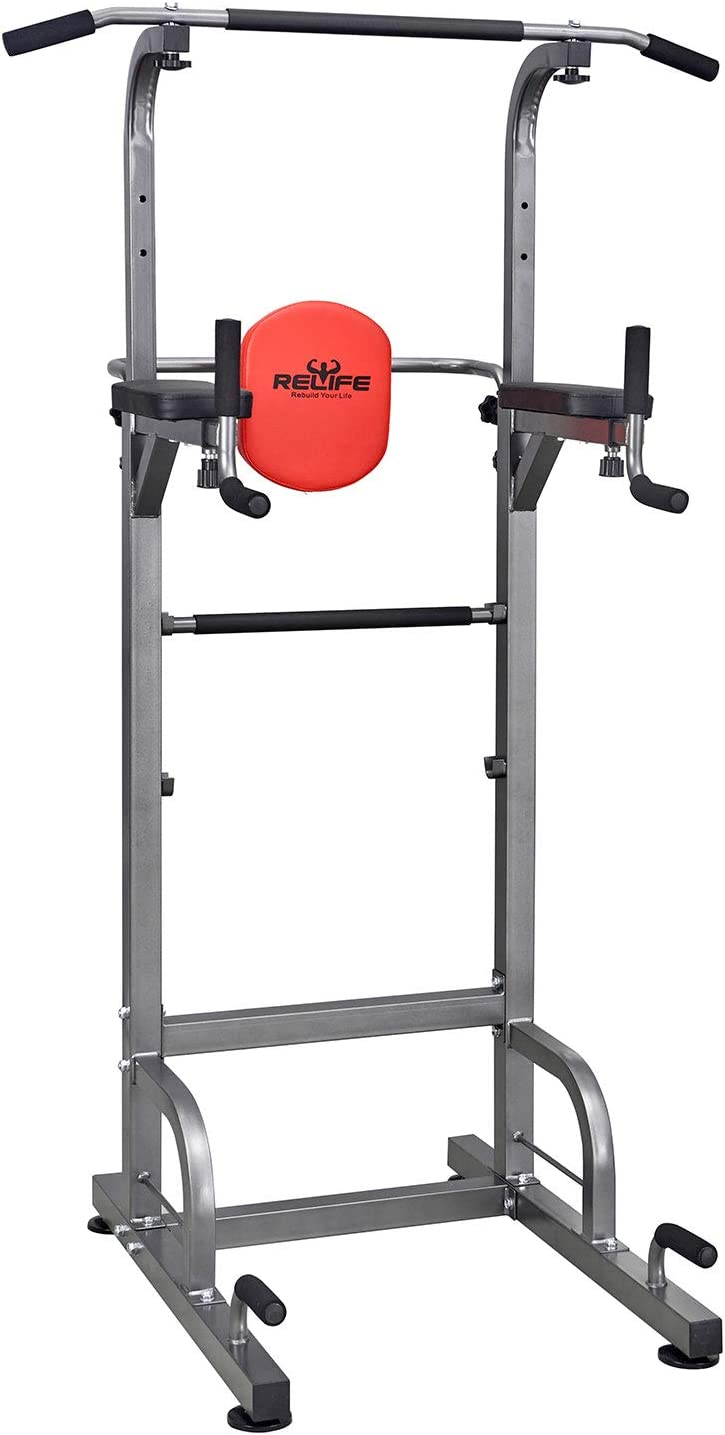 amazon com dip stands strength training equipment sports \u0026 outdoorsrelife rebuild your life power tower workout dip station for home gym strength training fitness equipment