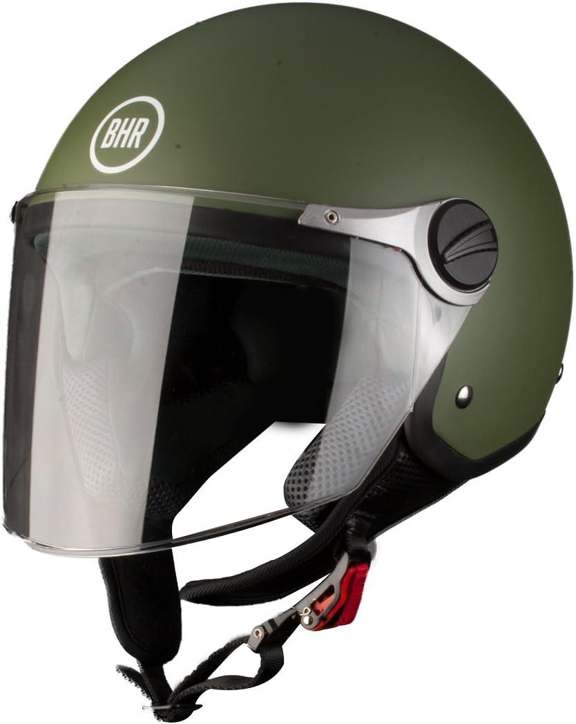 Demi-Jet Modell 710 57//58 Verde Opaco BHR Motorradhelm