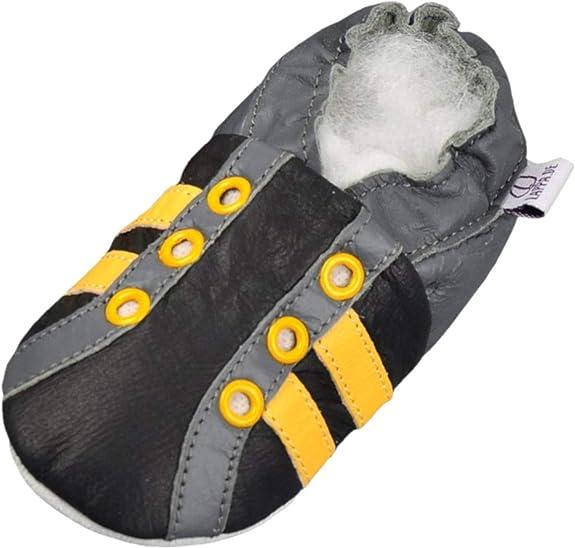 Lappade Chaussures Cuir Souple pour b/éb/é Enfant Fille Gar/çcon avec Semelle en Daim