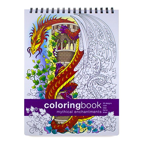 Mythical Enchantments Adult Coloring Book Large 862 X 1175 Inches