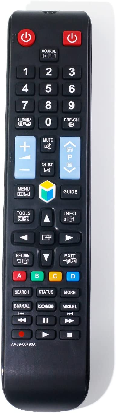 Vinabty - Control Remoto de repuesto AA59-00790A AA5900790A compatible con Samsung UE22F5400AK UE22F5400AKXXU UE22F5400AW UE22F5470SS UE32F4000AW UE32F4500AK UE32F4500AW UE32F4570SS: Amazon.es: Electrónica