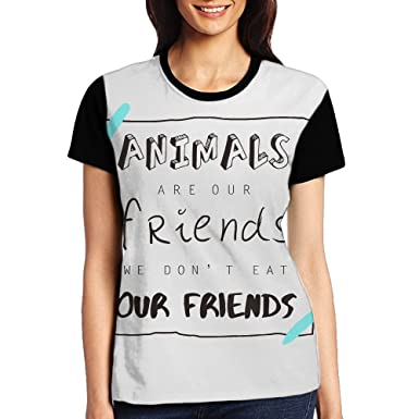 708edb4f HSs4AD Animals are Our Friends We Don't Eat Our Friends New Women's ...
