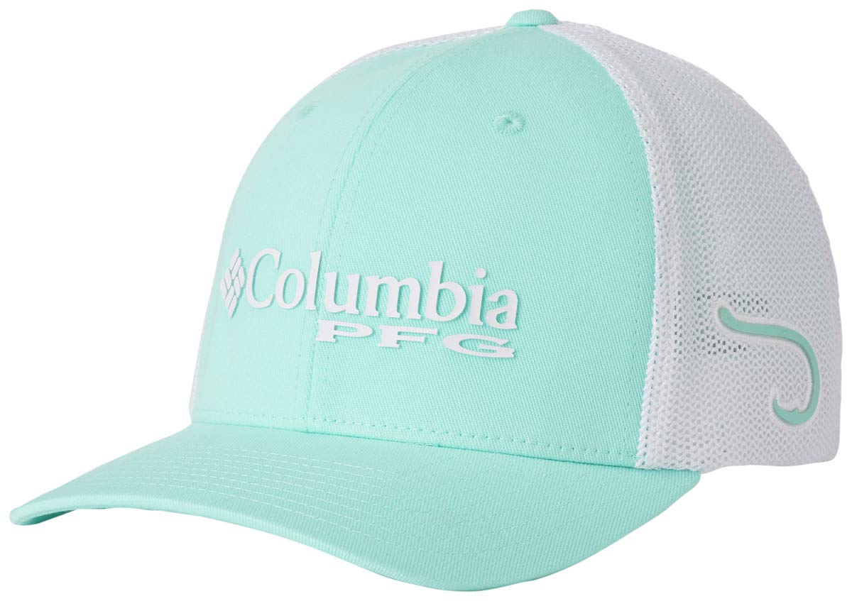 Columbia Standard PFG Mesh Ball Cap, Gulf Stream, Hook, Small/Medium by Columbia