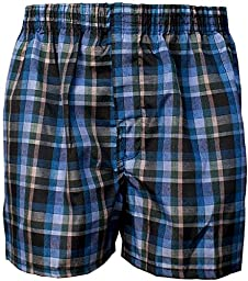 Boy\'s Boxer Shorts 6-Pack of Assorted Plaid Patterns & Colors (Large)