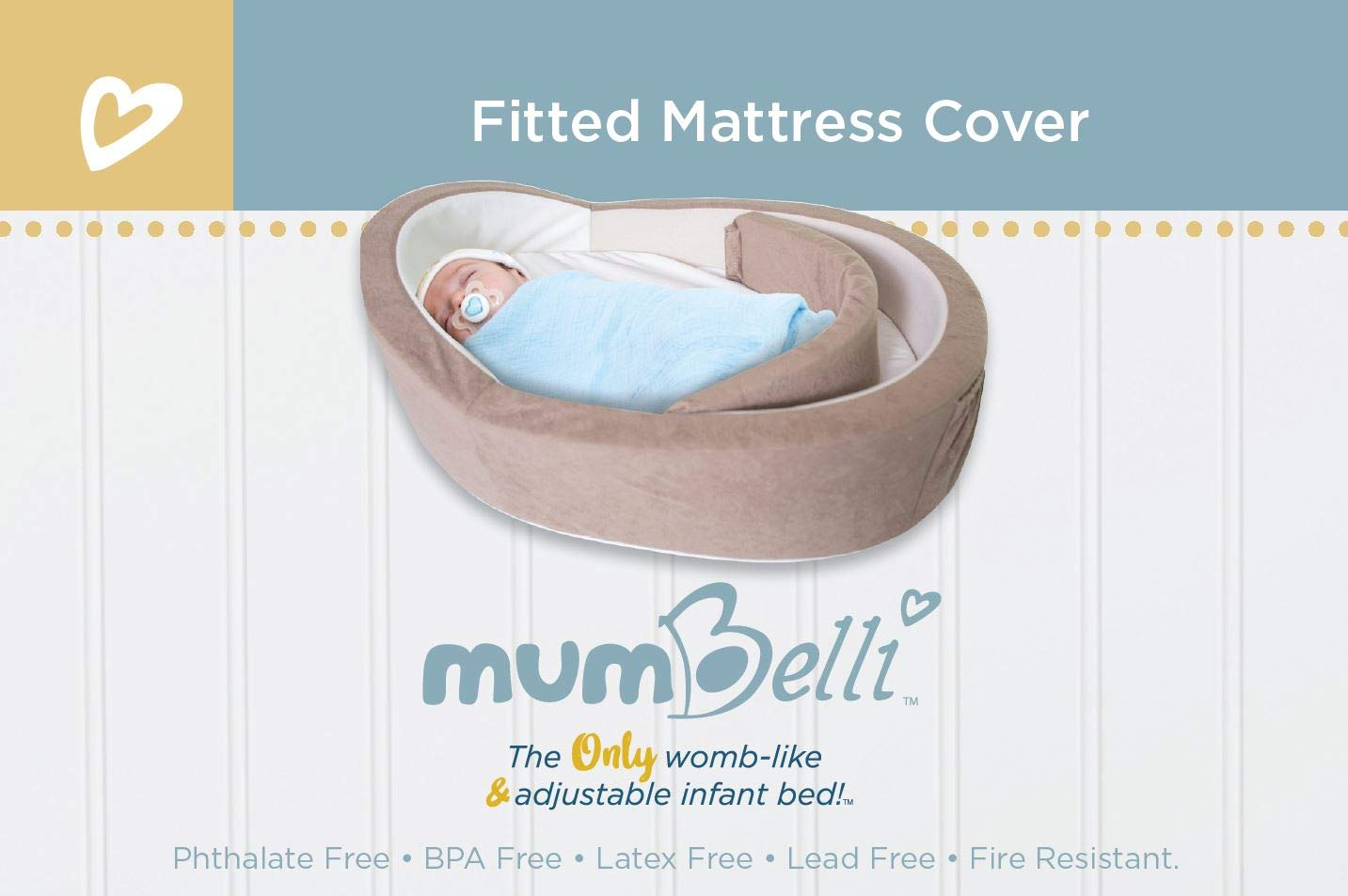 Mumbelli - The Only Womb-Like and Adjustable Infant Bed. Replacement Mattress Pad Cover