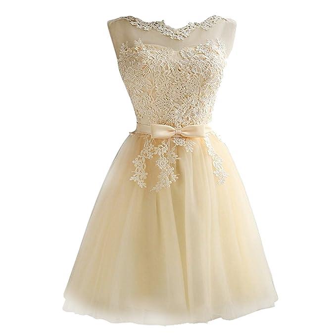 fac909983449b iShine Vestido Corto Verano para Mujer de Fiesta Floral con Arco Cintura de  Novia Coctel Vestido  Amazon.es  Ropa y accesorios