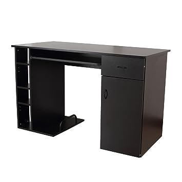 Mesa de Ordenador PC 120x60x74 cm Oficina Despacho Escritorio ...