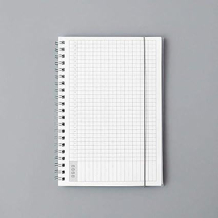 EUHOKD Cuaderno Agenda Diaria Semanal Mensual Spiral A5 Hora ...