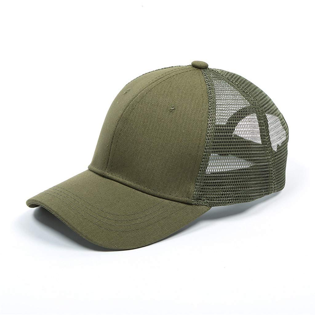 CapsA Baseball Dad Cap Mesh Adjustable Size Perfect for Running Workouts Outdoor Activities Ponytail Messy Buns Visor