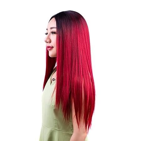 Staresen Pelucas peluca llena sintética larga negra natural larga para la  fiesta o el uso diario del traje de Cosplay de las mujeres (Gris)   Amazon.es  Ropa ... b350aaac5891