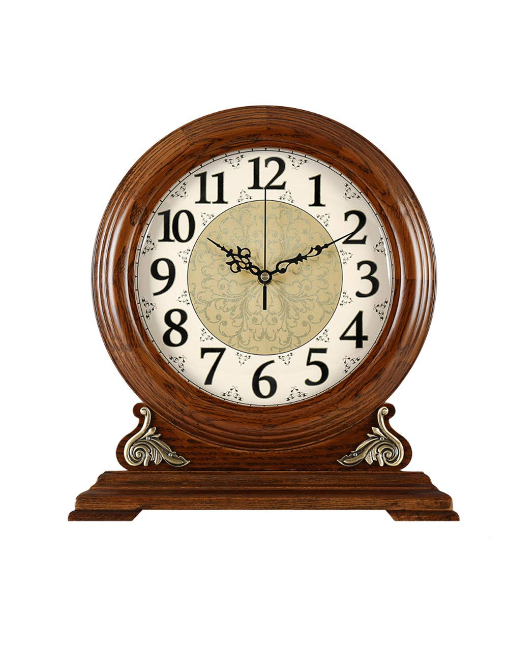 Kcoob Vintage Wooden Table Clock Desk And Shelf Clock Luminous
