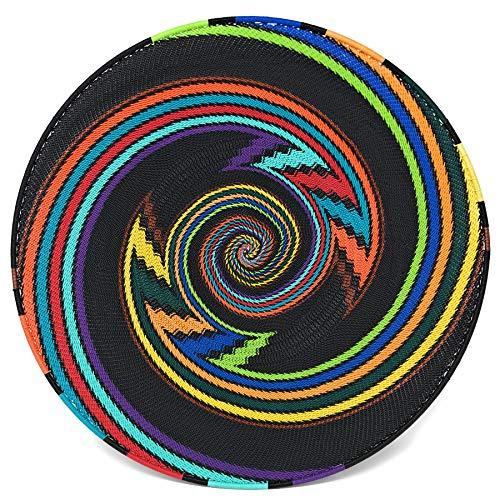 Bridge for Africa Fair Trade Zulu Telephone Wire 16-inch Platter Basket, African Rainbow