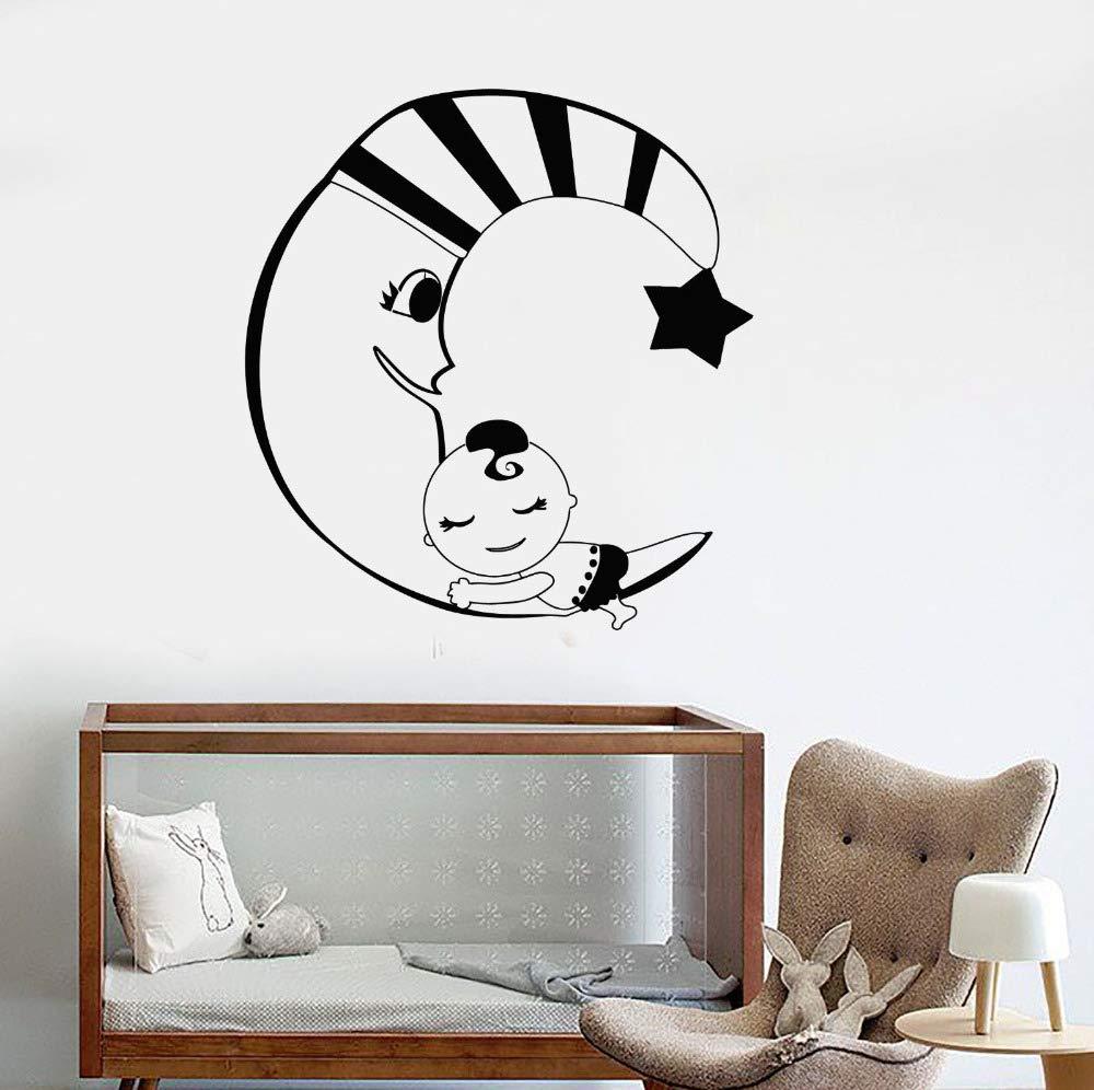 Luna Creciente Estrella Estrella Tatuajes de Pared Habitación Del ...