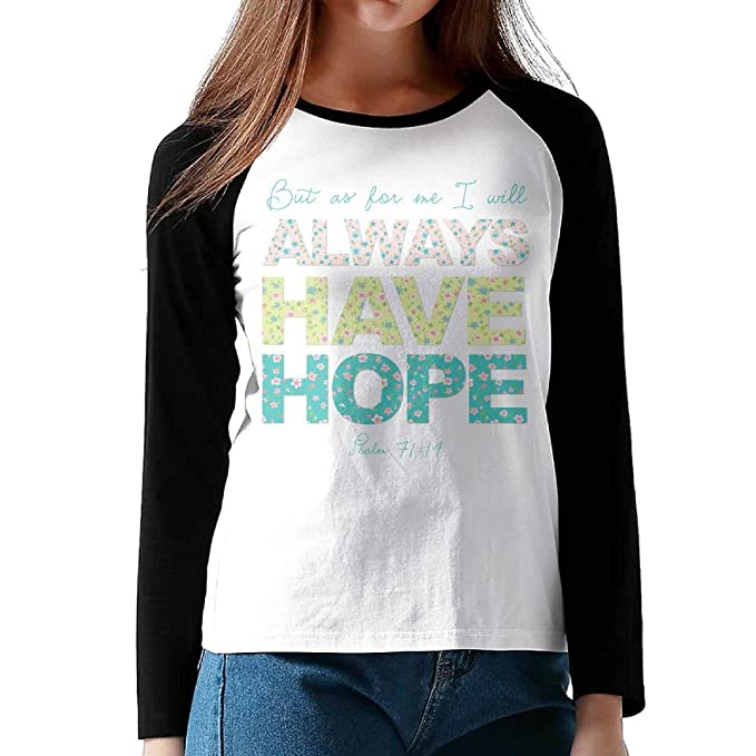 e5b2f748 Image Unavailable. Image not available for. Color: Hexu Always Have Hope  Women Long Sleeve ...