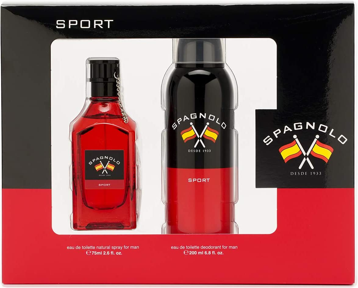 Spagnolo – Sport Estuche de Regalo para Hombre, Eau de Toilette 75 ml, Desodorante en Spray 200 ml