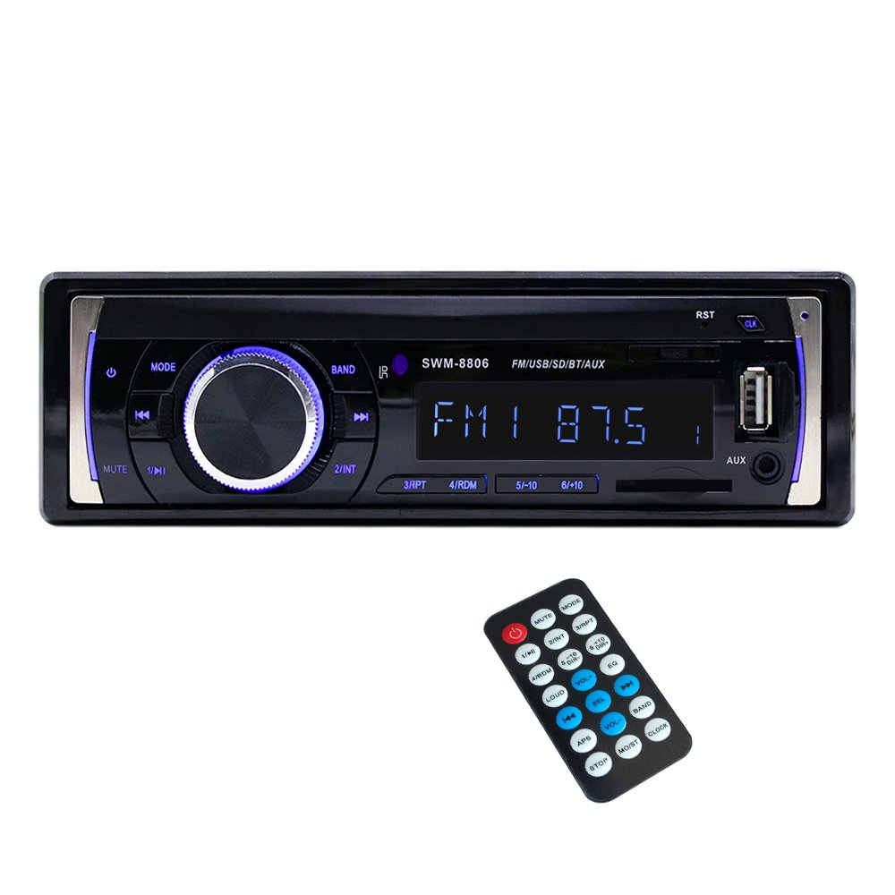 Single Din Car Stereo with Bluetooth Car Radio MP3 Player Wireless Remote