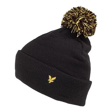e05dd5b7fb2 Lyle   Scott Hats Corrie Fleece Lined Bobble Hat - Black 1-Size ...