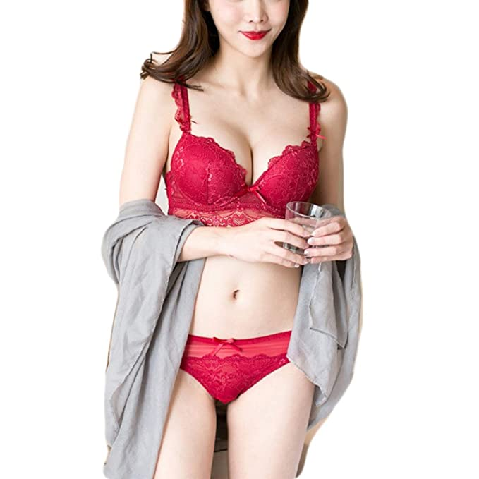 Amorza Female 3 4 Cup Bra Set Soft Underwire Push Up Sexy Lace Women  Lingerie 2a492dd9b