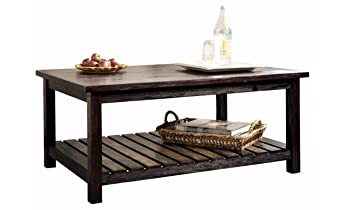 Ashley Furniture Signature Design   Mestler Coffee Table   Cocktail Height    Rectangular   Rustic Brown