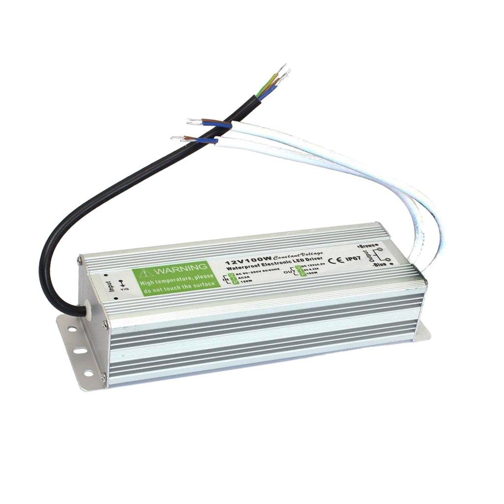 Sharplace 10W-150W Trasformatore di Potenza Driver per LED Strip Luce AC 110-220V a 12V DC - 100w