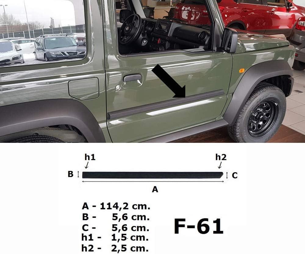 F61 Anno di Costruzione dal 10.2018 3700061 Spangenberg Listelli di Protezione Laterali per Suzuki Jimny II