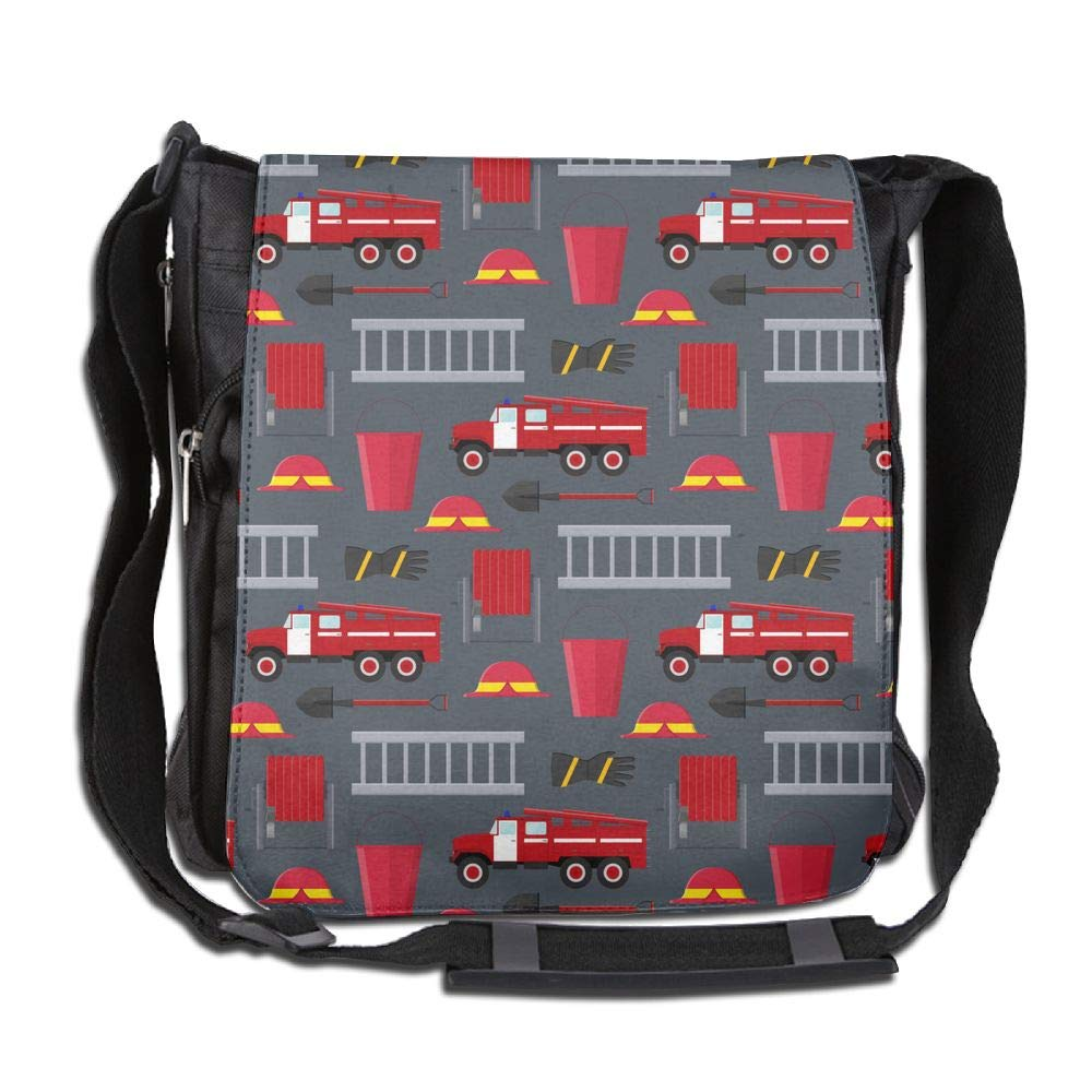 SARA NELL Messenger Bag,firefighter Profession Equipment And Tools,Unisex Shoulder Backpack Cross-body Sling Bag