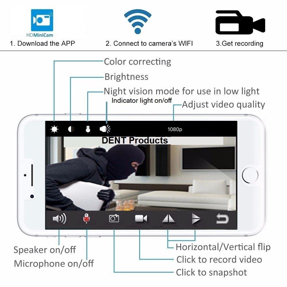 Amazon.com : USB Hidden Camera WiFi HD1080p Remote View by DENT Products -  128 gb Capacity Spy Pet Nanny Cam : Camera & Photo