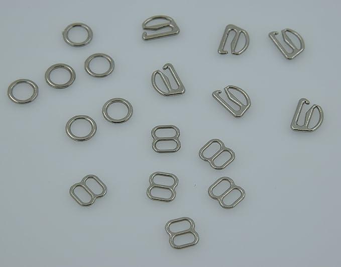 6mm, Bronze Tone Metal Lingerie Hardware Sewing Clips Adjusters Bra Strap Sliders Buckle Pack of 100Pcs