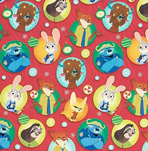 Disney's ZOOTOPIA ~ Gift Wrap Paper ~ 1 Roll